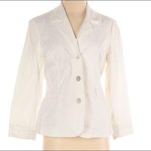 J. Jill blazer Cotton/Spandex blend Size 4 EUC